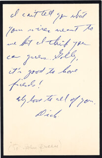 RICHARD RODGERS - AUTOGRAPH NOTE SIGNED