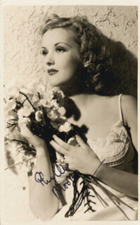 PHYLLIS BROOKS - PICTURE POST CARD SIGNED