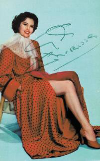 CYD CHARISSE - PICTURE POST CARD SIGNED