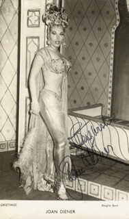 JOAN DIENER - AUTOGRAPHED SIGNED PHOTOGRAPH