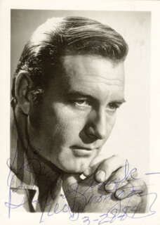 GEORGE MONTGOMERY - AUTOGRAPHED INSCRIBED PHOTOGRAPH 03/28/1984