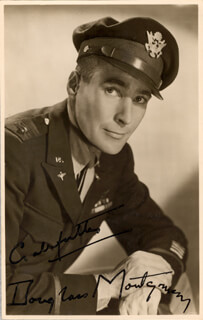 DOUGLASS MONTGOMERY - PICTURE POST CARD SIGNED