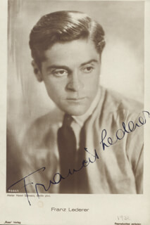 FRANCIS LEDERER - PICTURE POST CARD SIGNED
