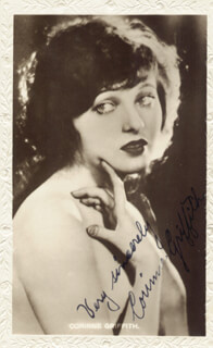 CORINNE GRIFFITH - PICTURE POST CARD SIGNED
