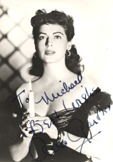 AVA GARDNER - AUTOGRAPHED INSCRIBED PHOTOGRAPH