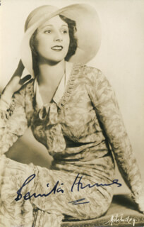 BENITA HUME - AUTOGRAPHED INSCRIBED PHOTOGRAPH