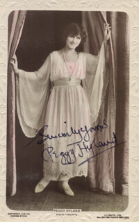 PEGGY HYLAND - AUTOGRAPHED SIGNED PHOTOGRAPH