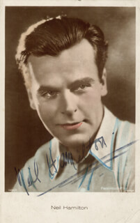NEIL HAMILTON - PICTURE POST CARD SIGNED