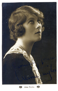 ALMA TAYLOR - PICTURE POST CARD SIGNED