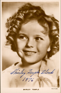 SHIRLEY TEMPLE - AUTOGRAPHED SIGNED PHOTOGRAPH 1976