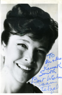 JOAN TETZEL - AUTOGRAPHED INSCRIBED PHOTOGRAPH