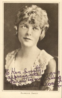 BLANCHE SWEET - INSCRIBED PICTURE POSTCARD SIGNED