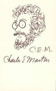 CHARLES E. MARTIN - SELF-CARICATURE SIGNED
