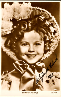 SHIRLEY TEMPLE - AUTOGRAPHED SIGNED PHOTOGRAPH 1983