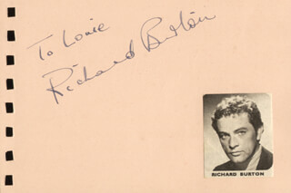 RICHARD BURTON - INSCRIBED SIGNATURE CO-SIGNED BY: JANE GRIFFITHS