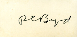REAR ADMIRAL RICHARD E. BYRD - AUTOGRAPH