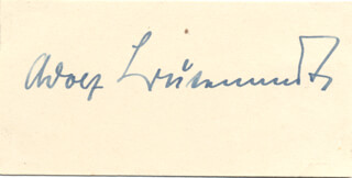 Autographs: ADOLF FRIEDRICH J. BUTENANDT - SIGNATURE(S)