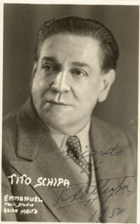 TITO SCHIPA - AUTOGRAPHED INSCRIBED PHOTOGRAPH 1950