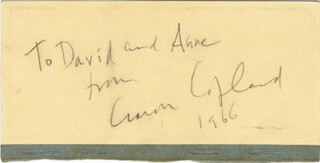 AARON COPLAND - INSCRIBED SIGNATURE 1966