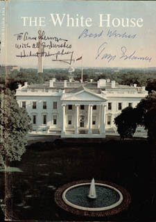 VICE PRESIDENT HUBERT H. HUMPHREY - INSCRIBED BOOK PAGE SIGNED