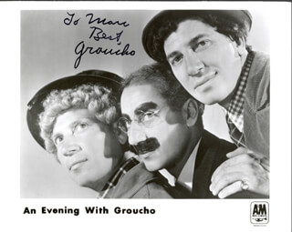 GROUCHO (JULIUS) MARX - AUTOGRAPHED INSCRIBED PHOTOGRAPH