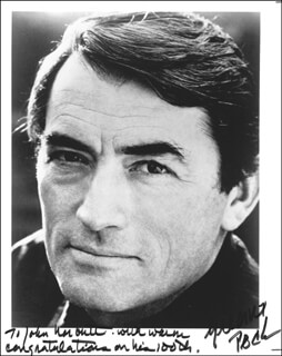 GREGORY PECK - AUTOGRAPHED INSCRIBED PHOTOGRAPH