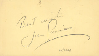 JEAN SIMMONS - AUTOGRAPH SENTIMENT SIGNED CIRCA 1953