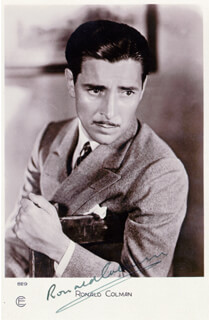 RONALD COLMAN - PICTURE POST CARD SIGNED