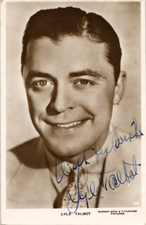 LYLE TALBOT - PICTURE POST CARD SIGNED