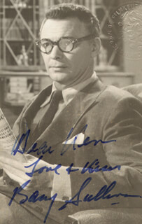 BARRY SULLIVAN - AUTOGRAPHED INSCRIBED PHOTOGRAPH