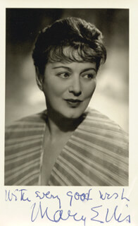MARY ELLIS - AUTOGRAPHED SIGNED PHOTOGRAPH
