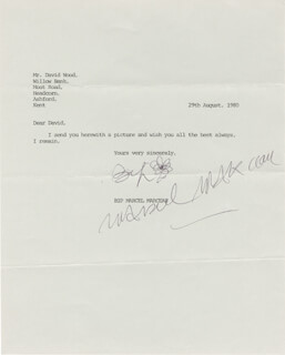 MARCEL MARCEAU - TYPED LETTER SIGNED 08/29/1980