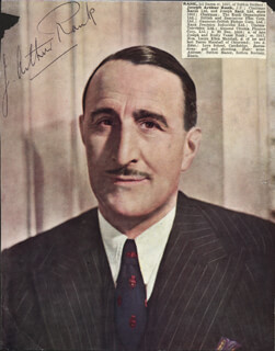 Autographs: JOSEPH ARTHUR RANK - MAGAZINE PHOTOGRAPH SIGNED