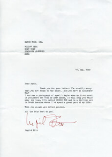 INGRID PITT - TYPED LETTER SIGNED 01/19/1980