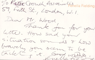 FENELLA FIELDING - AUTOGRAPH LETTER SIGNED