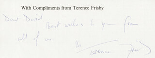 TERENCE FRISBY - AUTOGRAPH NOTE SIGNED