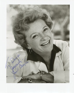 JAN CLAYTON - AUTOGRAPHED INSCRIBED PHOTOGRAPH