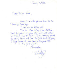 MAX VON SYDOW - AUTOGRAPH LETTER SIGNED 02/15/1982