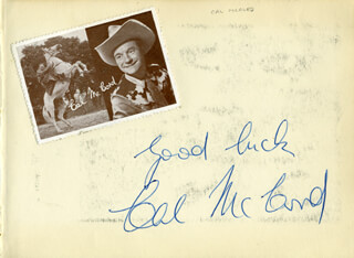 CAL McCORD - AUTOGRAPH SENTIMENT SIGNED
