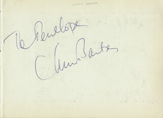 Autographs: CHRIS BARBER - INSCRIBED SIGNATURE