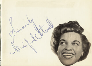 Autographs: WINIFRED ATWELL - AUTOGRAPH SENTIMENT SIGNED