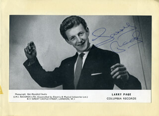 LARRY PAGE - AUTOGRAPHED SIGNED PHOTOGRAPH CO-SIGNED BY: JIMMY THOMPSON