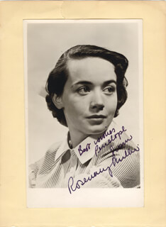 ROSEMARY MILLER - AUTOGRAPHED SIGNED PHOTOGRAPH