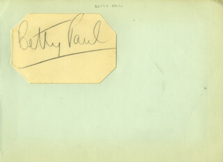 BETTY (BETTY PERCERON) PAUL - AUTOGRAPH