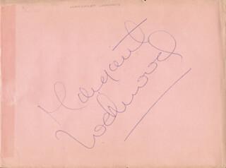 MARGARET LOCKWOOD - AUTOGRAPH CO-SIGNED BY: JILL ADAMS