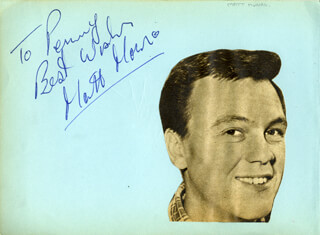 MATT MONRO - AUTOGRAPH NOTE SIGNED CO-SIGNED BY: MITCHELL TOROK