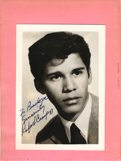RAFAEL CAMPOS - AUTOGRAPHED INSCRIBED PHOTOGRAPH CO-SIGNED BY: SHIRLEY ABICAIR, BENNY LEE