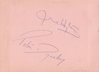 JANE HYLTON - AUTOGRAPH CO-SIGNED BY: PETER DYNELY, WEE WILLIE (CHARLES WILLIAM) HARRIS
