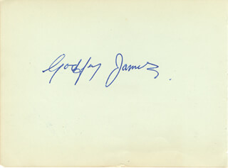 GODFREY JAMES - AUTOGRAPH CO-SIGNED BY: MAX WALL