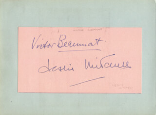 VICTOR BEAUMONT - AUTOGRAPH CO-SIGNED BY: LESLIE MITCHELL